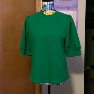 Kelly Green Short-Sleeved Knit Top Size M